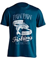 """Paw Paw Pesca 'camiseta Paw Paw, el Man, The Myth, de la leyenda """"Pesca De Pesca Camiseta–idea de regalo para Dad en su cumpleaños, Regalo de Navidad o día del padre., azul marino"""