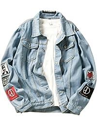 ShiFan Herren Oversize Jeansjacke Übergangsjacke Leichte Denim Jacket Große  Größen f9b232954d