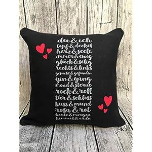 Kissen Geschenk 40 * 40 Valentinstag Geschenk Freund Freundin Liebe Love Friend Heart