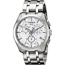 Tissot COUTURIE T - Reloj de Caballero de Cuarzo, Correa de Acero Inoxidable Color Plata
