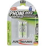 ANSMANN Akku Batterie für Schnurlostelefon Micro AAA 550mAh Phone DECT maxE ohne Memory-Effekt geringe Selbstentladung LSD sofort einsatzbereit 2er Pack