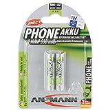 ANSMANN maxE Micro AAA Akku 550mAh DECT Phone-Akku Schnurlostelefone geringe Entladung Akkubatterie (2er Pack)