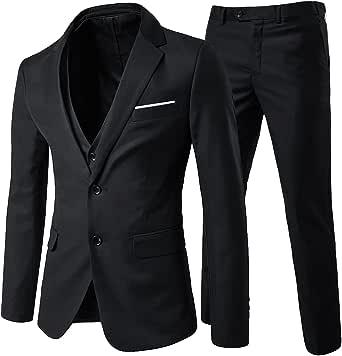Mens Suits 3 Piece Regular Slim Fit Wedding Formal Suit Men Blazer Jackets Waistcoat Trouser