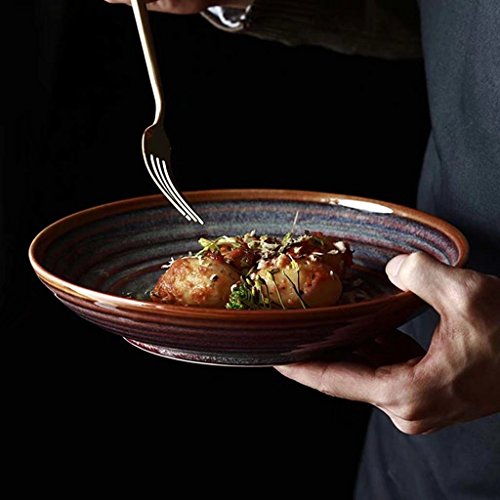 Bol Rond européen de Vaisselle de Salade de céramique pour la Cuisine à la Maison Occidentale d'hôtel de Cuisine
