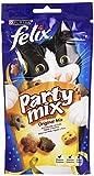 Felix Party Mix Gatto Snack Original Mix al Gusto di Pollo, Fegato e Tacchino - 60 g