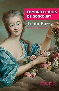 La du Barry par Jules de Goncourt