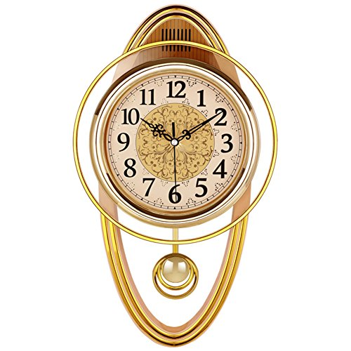 Chiming quartz clocks buyitmarketplace dwhx swing wall clock retro mute quartz clock for living room bedroom b gumiabroncs Choice Image