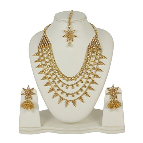 MUCH MORE Exclusive Ethnic Design Made Polki Necklace Set For Women Jewelry