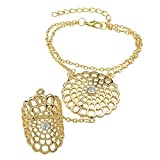 Crunchy Fashion Gold Plated Stylish Part...