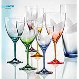 Bohemia cristal copas de vino Kate 250ml con grabado y colores surtidos 6–Set
