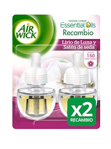 Air Wick Ambientador eléctrico recambio Duplo Lirio de Luna - Paquete de...