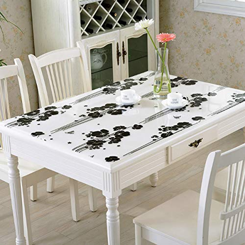 Wfsm stuoia di plastica del tavolino da salotto del tessuto della tovaglia del quadrato del ristorante del pvc di plastica eliminabile impermeabile e antiolio di anti-scottatura europea 80 * 120cm