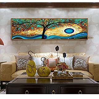 ABm Home - Wall Poster, Fine Wall Art, Large Framed Canvas, Super size Wall Picture, (Light Oak, LO11)