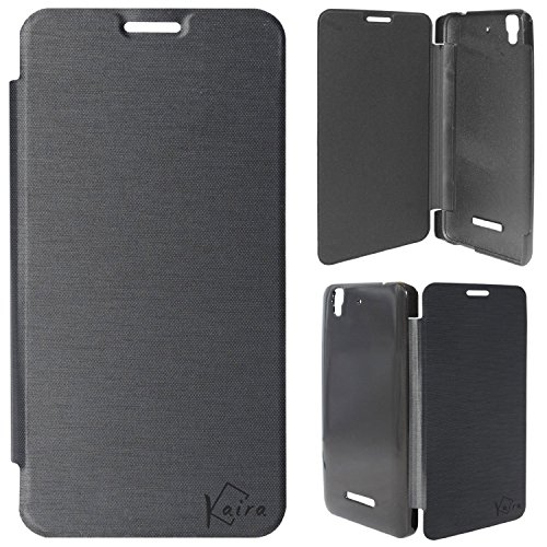 Kaira Brand High Quality Flip case cover(Black) For Micromax Yureka Yu YUREKA AO5510 Mobile