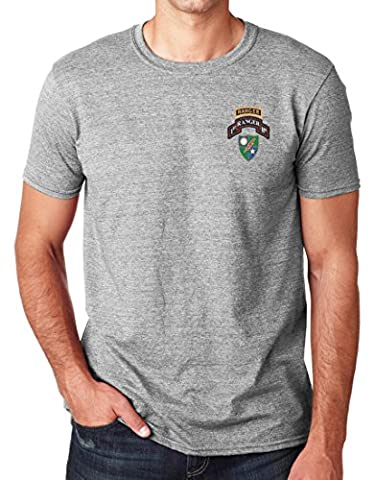 US Army 75th Ranger 1st Bn Embroidered Logo - Ringspun Cotton T Shirt By Military online