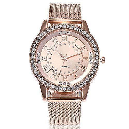 Uhren Damen,Armbanduhren für Frauen Uhren Damen Ultradünn Uhr Günstige Casual Analoge Quarz Uhr Luxus Armband Uhren Edelstahl Armbanduhr Business Mädchen Frau