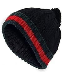 55c663976e87 Nouveau chapeau Bobble Hommes chapeau en laine Woolly designer hiver dénudé  câble ...