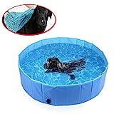 Piscina para Perros Natacion Mascotas Gato Cachorro Plegable PVC Antideslizante y Resistente al Desgaste Adecuado para...