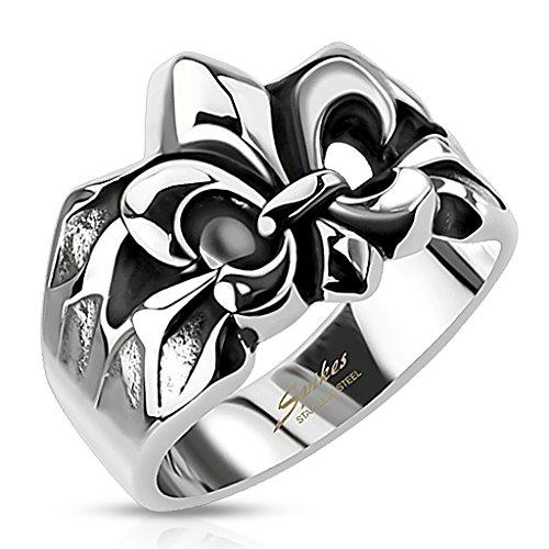 ahl Ring Fleur De Lis Schwertlilie Freimaurer Ring Siegelring Silber 59 - Ø 18,95 mm ()