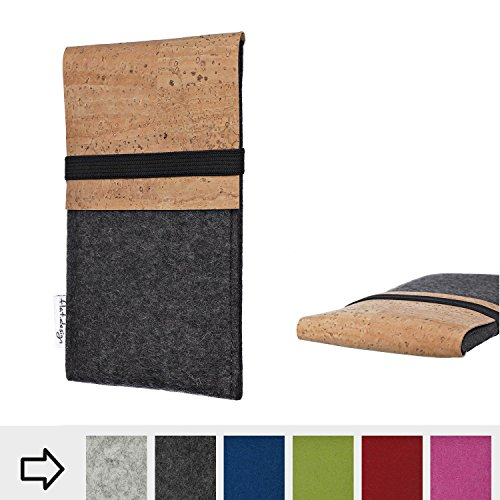 flat.design Handy Hülle SAGRES für Archos Saphir 50X Made in Germany Handytasche Filz Tasche Schutz Case fair Kork