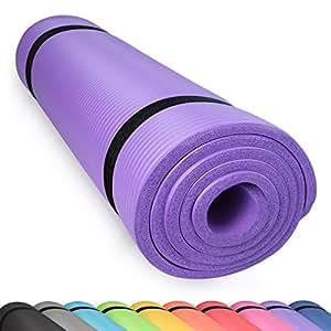 diMio Yogamatte Gymnastikmatte Rutschfest mit Tragegurt, phlatatfrei + SGS-geprüft, 185x60x1.0cm Lila