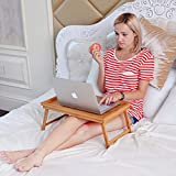 Aart Wooden Foldable Laptop Table for Bed