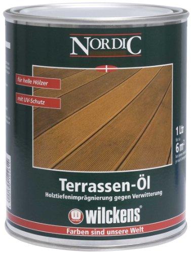 Preisvergleich Produktbild Wilckens Nordic Terrassen Öl, gelblich, 1 Liter 15110200060