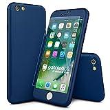 CASYLT® iPhone 6 / 6s Hülle 360 Grad Fullbody Case [inkl. 2X Panzerglas] Premium Komplettschutz Handyhülle Blau