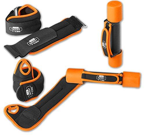 Fitness- Gewichte- Set 6 tlg. (orange)