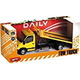Mondo Motors - Camión grúa de juguete, escala 1:43, modelo Iveco Daily, color amarillo (53145)