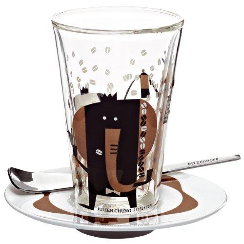Ritzenhoff 2610010 Latte Macchiato Glas mit Untert. Chung (Tiere) F12