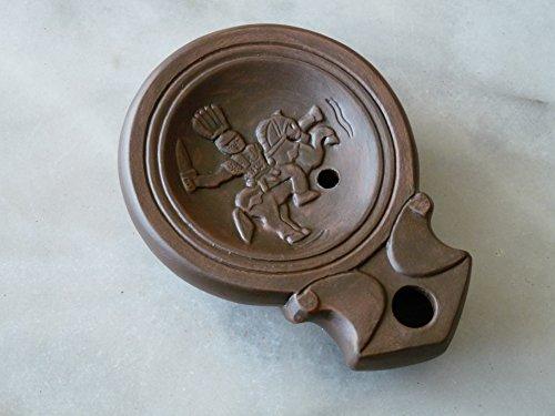 lampe-huile-romaine-cavalier-gaulois-alaudagenos