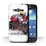 Stuff4 Coque de Coque pour Samsung Galaxy Core 4G/G386W / Croquis de Moto Design/Fragments Collection