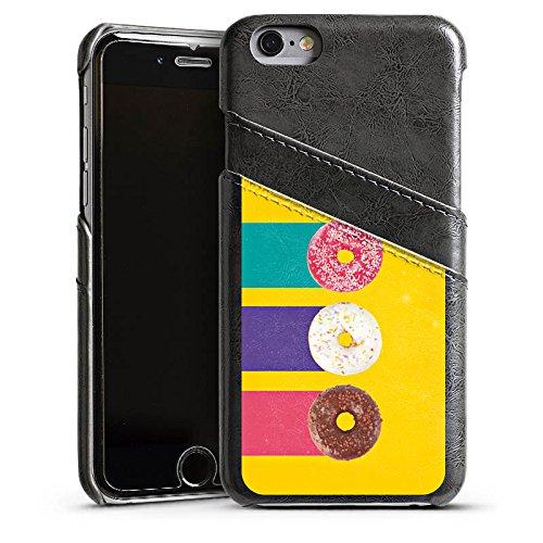 Apple iPhone 4 Housse Étui Silicone Coque Protection Donuts Sucreries Bonbon Étui en cuir gris