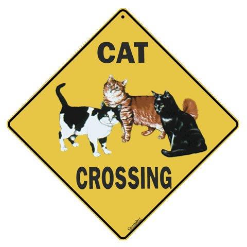 grenzübergänge Cat CROSSING SIGN (Katze Vorsicht Schild)