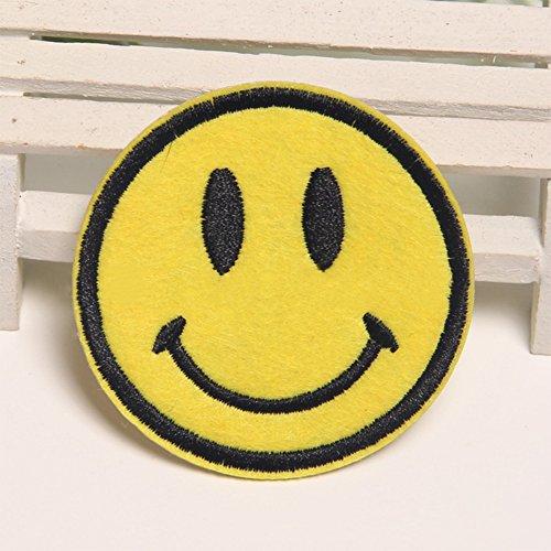 Zantec Kleider Patches Niedlich Karikatur Lächeln Embroidered Patches für DIY-Bekleidung