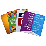 QuoteSutra Mousepad Combo to Inspire & Motivate Office | Set of 4 | Anti-Skid Base | Super Quality Foam