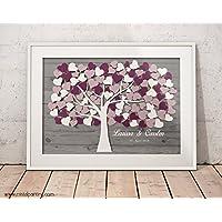 Wedding tree Hochzeitsbaum Fingerabdruck-Gästebuch Fingerabdruck-Baum Papierdruck Hochzeitsspiele
