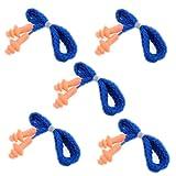 SODIAL (R) Forma 5 Coppia Albero morbido silicone di sicurezza morbida spine di orecchio udito Manicotti di protezione