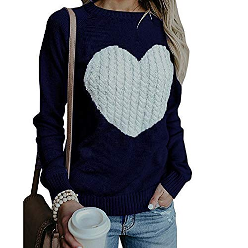 Women 2018 New Sweater Tops,Clearance Innerternet Women Casual Solid Long Sleeve Love Pullover Loose Sweater Jumper Tops Knitwear