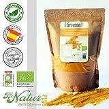 Cúrcuma cruda en polvo BeNatur Plus – 100% Cúrcuma Bio (Curcuma Longa) procedente de cultivo Ecológico 500 g