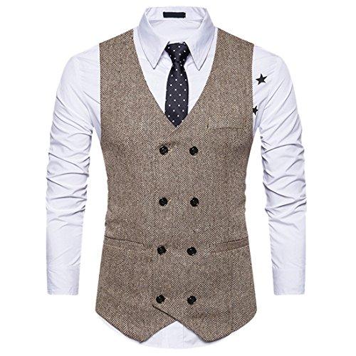 ier Zweireiher Revers Fit Business-Kleid Weste (1920 Anzug)
