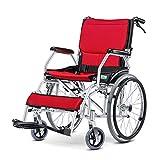 Manuelle Rollstühle, tischlange Arme und erhöhte Beinstützen für zusätzlichen Komfort, faltbar mit hoher Tragfähigkeit, Unterstützung 300 £, 18-Zoll-Sitz,b