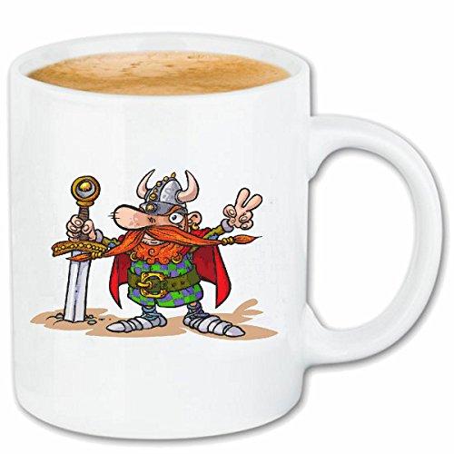 taza para café VIKING con la espada y casco vikingo ESCANDINAVIA WIKI CRÁNEO del casco de Viking Caso duro de la cubierta Teléfono Cubiertas cubierta para el330 ml de cerámica en blanco