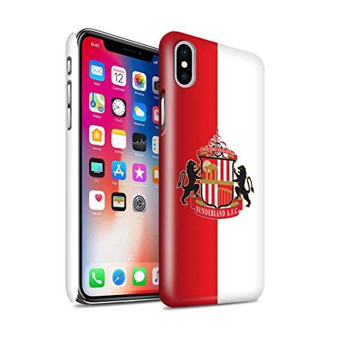 Offiziell Sunderland AFC Hülle / Glanz Snap-On Case für Apple iPhone X/10 / Pack 6pcs Muster / SAFC Fußball Crest Kollektion Rot/Weiß