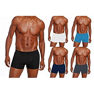 5 x Mens Angelo Litrico Assorted Boxer Shorts All Sizes Cotton & Lycra (Assorted 36-38