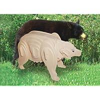 Comparador de precios Kids Playschool Preschool Puzzled Black Bear 3D Natural Wood Play Puzzle by puzzled - precios baratos