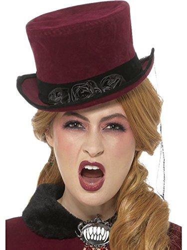 Kostüm Zubehör Hut Zylinder viktorianische Vampirin (Kostüm Viktorianischer Hut)
