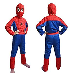 Jiada Spiderman Super Hero Costume - Fancy Dress Outfit Suit Mask - Size (2-4 Yrs)