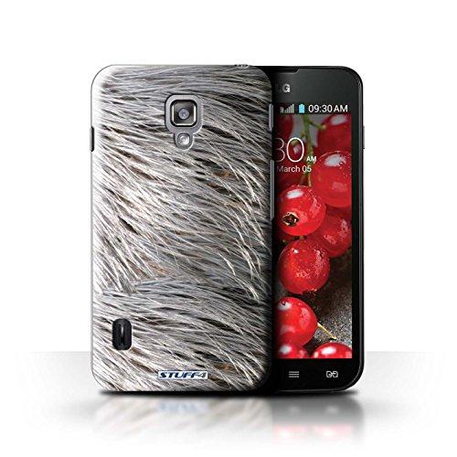 Kobalt® Imprimé Etui / Coque pour LG Optimus L7 II Dual / Zèbre conception / Série Motif Fourrure Animale Plumes